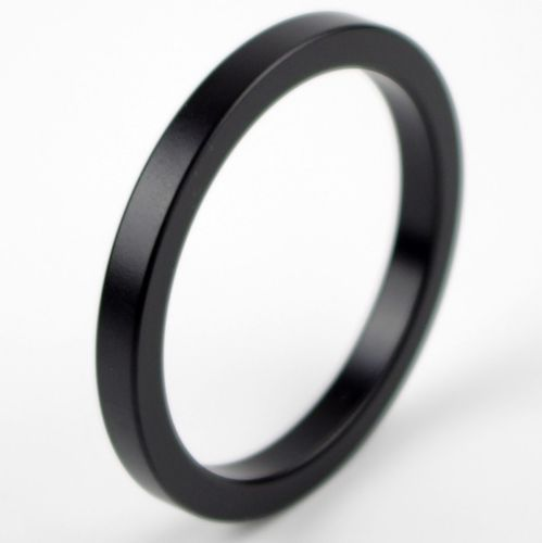 Metal Aluminum Cock Ring 50mm Black
