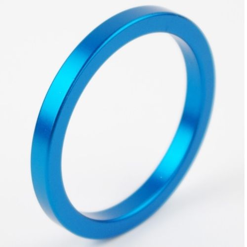 Metal Aluminum Cock Ring 45mm Blue