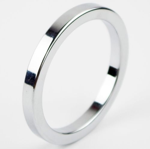 Metal Aluminum Cock Ring 50mm Silver