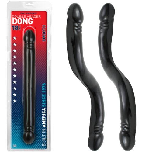 "Doc Johnson DOUBLE HEADER 18"" Anal Snake Black"