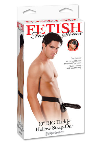 "Pipedream FFS Big Daddy Hollow 10"" Strap-on Blk"