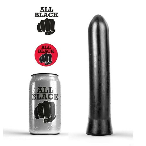 "ALL BLACK 9"" AB07 SMOOTH Bullet Dildo Plug"