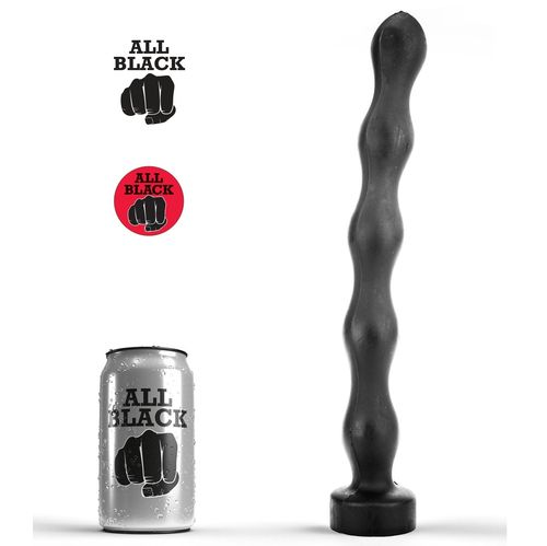 "ALL BLACK 12"" AB69 Depth Trainer Plug Dildo"